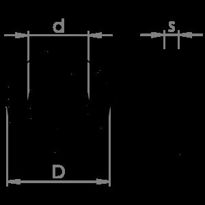 Flat washers for carpentry DIN 7989 HV 100