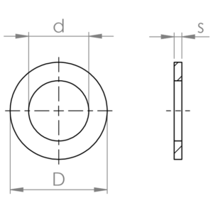 Flat washers narrow band ISO 7092 HV 300