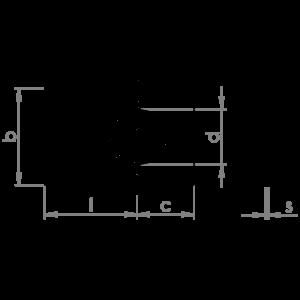 Piastrine di sicurezza rettangolari UNI 6601 HV 100