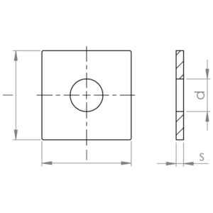 Piastrine quadre UNI 6596 / DIN 436 HV 100