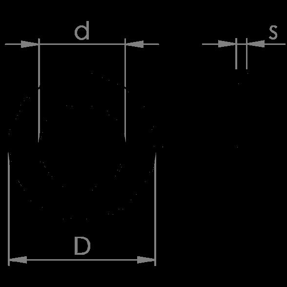 Rondelle piane ISO 7091 HV 100