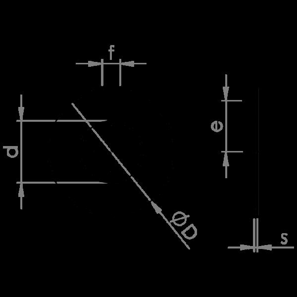 Washers lock with notch UNI 6599 DIN 432 HV 100